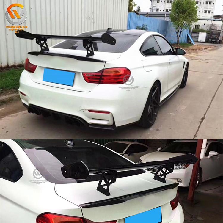 For F87 F80 F82 M2 M3 M4 GTS Type Carbon Fiber Rear trunk Wing Spoiler