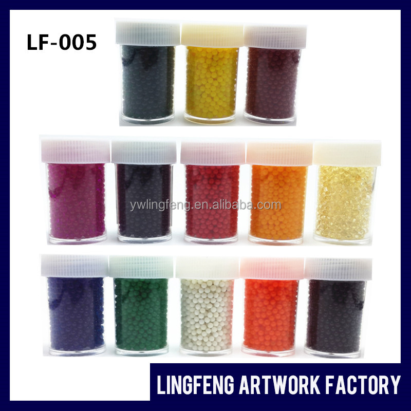 LF-005 linkfun 12 bottle one set rainbow colour jelly pearls flower vase beads orbeez