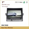 7 inch Tft Lcd Car dvr Monitor with waterproof camera,Remote control,Multi Language,Touch button