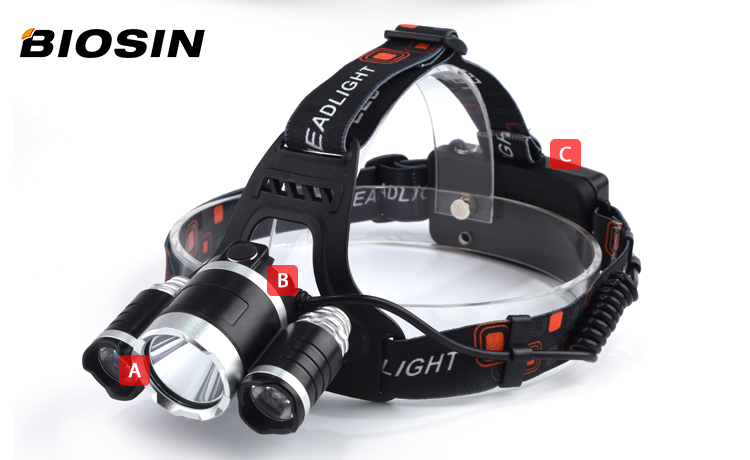 Good reputation 15 watt Lithium Ion safety light on battery case camping aluminum alloy head light led