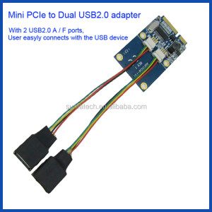 mini pci express to 2port usb2.0 card