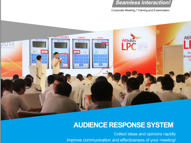 Interactive Audience Response & Voting Systems for corporate meeting