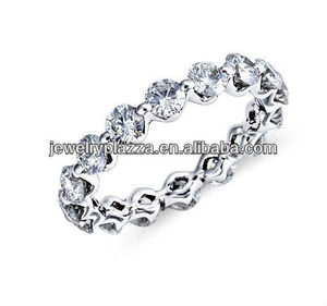 2013 Fashion Silver Jewelry,Floating Diamond Eternity Ring