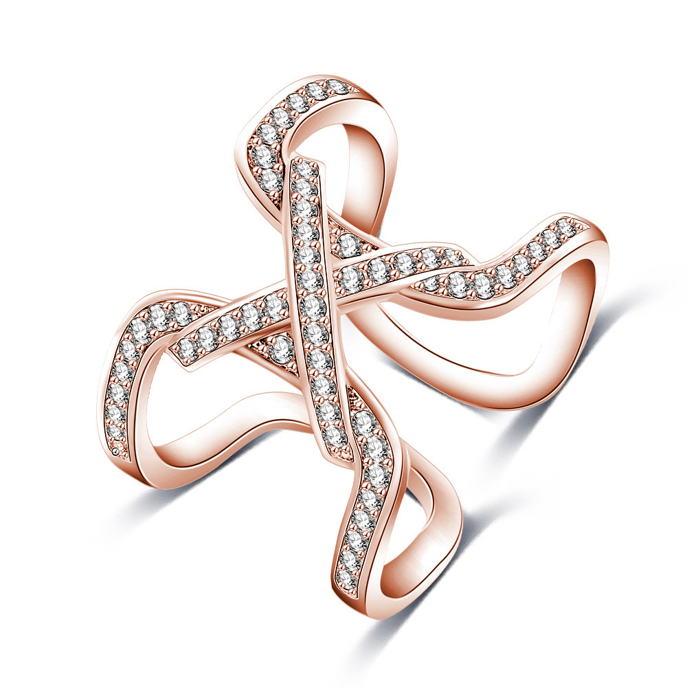 2017 AMAZON HOT SALE latest rose gold rings