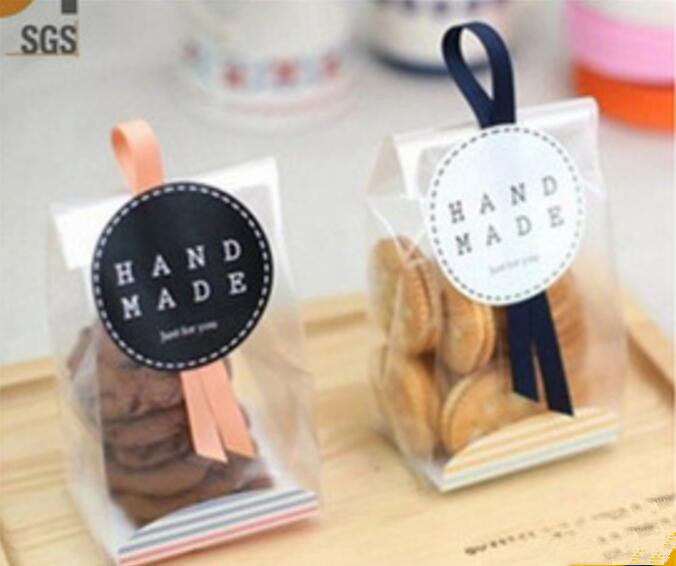 Promotion Cellophane Pouch Cookie Bags With Ribbon Wedding Promotional Bag Logo Product On