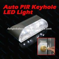 4 LED Auto PIR Infrared Wireless Keyhole Motion Detection IR Sensor Light Lamp