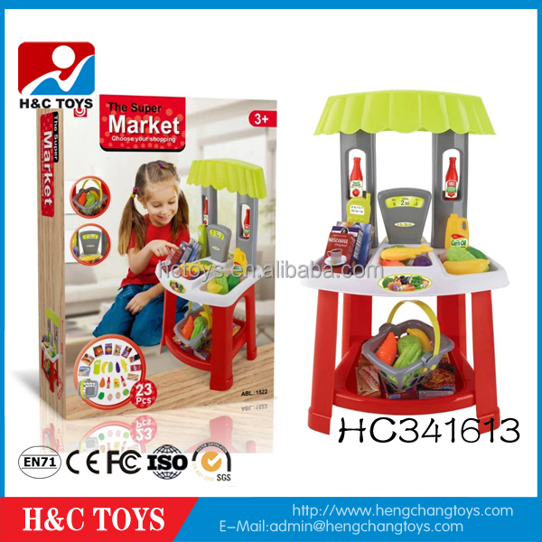 Hot sale girl toy supermarket toy set kids pretend play toys HC341613