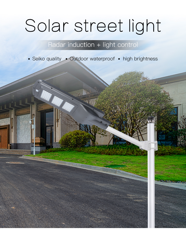 New products CE ROHS IP66 explosion proof motion sensor 30w 60w 90w outdoor solar led street lights