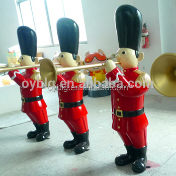 life size fiberglass soldier nutcracker for christmas soldier authentic 10ft height fiberglass toy soldier nutcracker - Fiberglass Christmas Decorations
