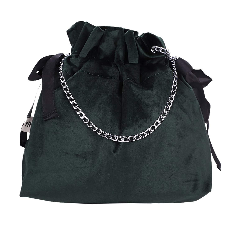 Get Quotations · Potli Bag Drawstring Bucket Bag Crossbody Shoulder Bag  Clutch Drawstring Purse Satchel for Woman fe3248f15b