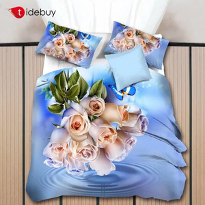 Ready Goods Merry Christmas Latest Design Kids King 3D Digital Printed bed sheet , Duvet Cover Sets Bedding