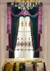 High-Grade European Garden Velvet Emboidery Curtains with Decorated Beads