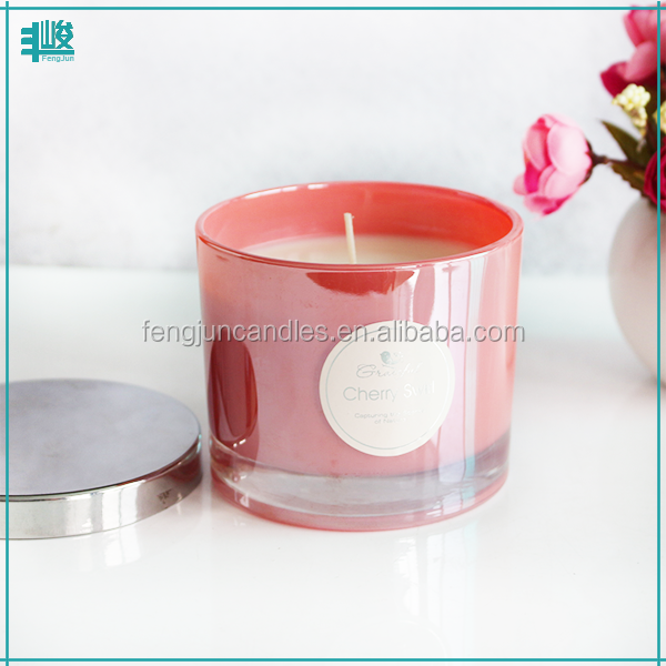 FJ031 custom Aroma glass jar natural soy wax candle melts for home decoration