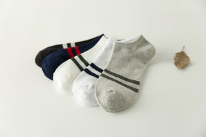 5 colors Pairs Pack Men Sport Socks knitting Casual Summer striped Style boat low cut Short Ankle socks