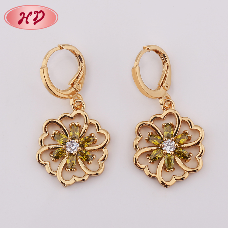 New 2018 Indian 22k Gold Hanging Earring Design For Women Designs Product On Alibaba