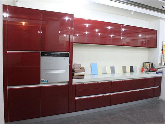 China foshan furniture deisgns acrylic kitchen cabinets for Acrylic kitchen cabinets prices