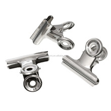 High Qaulity Silver Tone 5.0cmx4.4cm Stainless Steel Office Metal Bulldog Clips