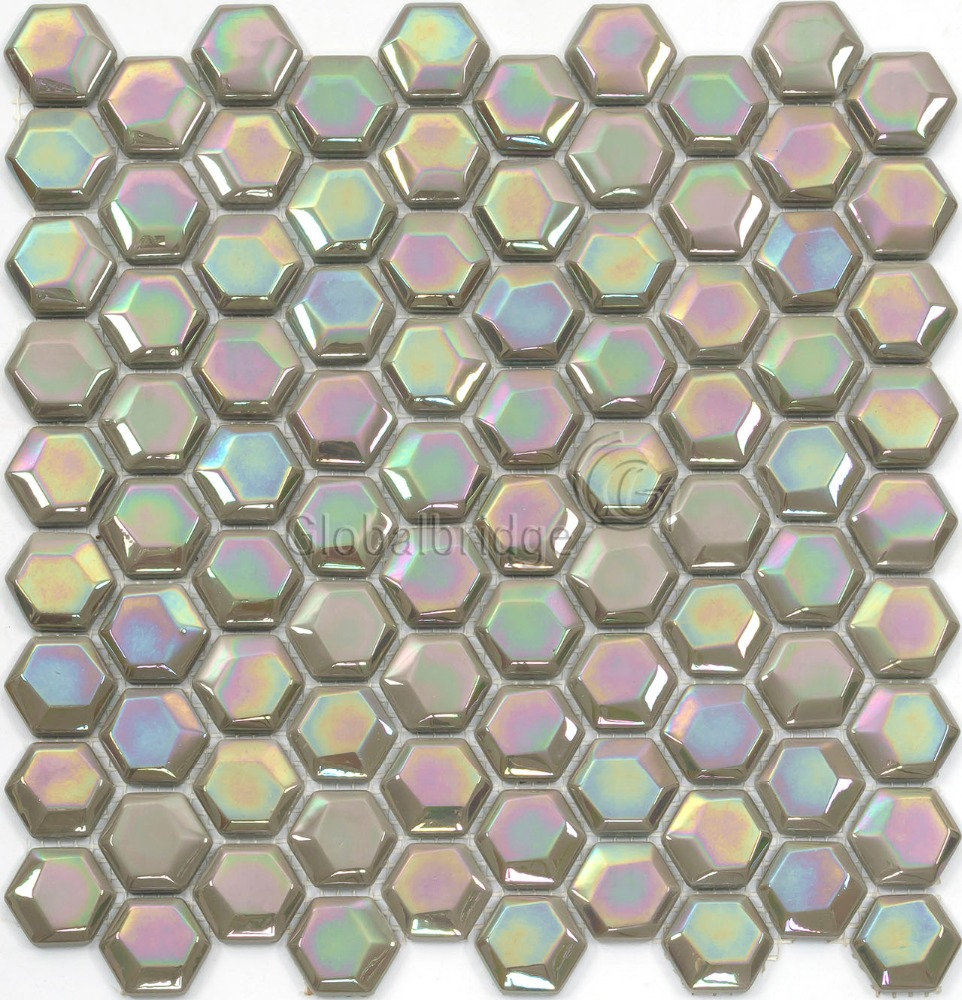 Hexagon iridescent glass mosaic tile hexagon iridescent glass hexagon iridescent glass mosaic tile hexagon iridescent glass mosaic tile suppliers and manufacturers at alibaba dailygadgetfo Images