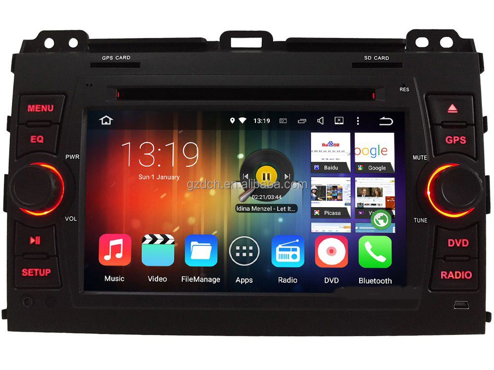 7 inch.4G LTE Android 6.0 Octa Core Car DVD Player FOR <strong>Toyota</strong> Land Cruiser <strong>Prado</strong> 120 2002 -2009 WS-9126