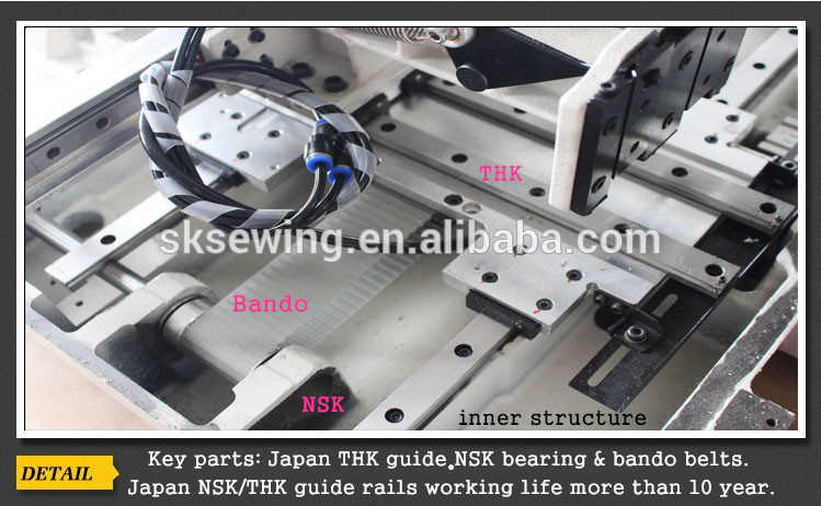 automatic computer rotary pattern sewing machine for garment