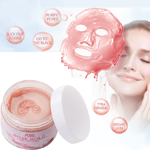 Nature Flower Rose Crystal Collagen Powder Crystal Mask Pure Rose Gold Peel Off Anti Age And Lift Facial Face Mask