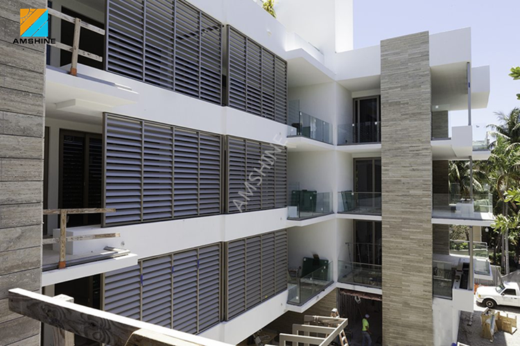 Modern new house desig aluminium outdoor glas louvres panel