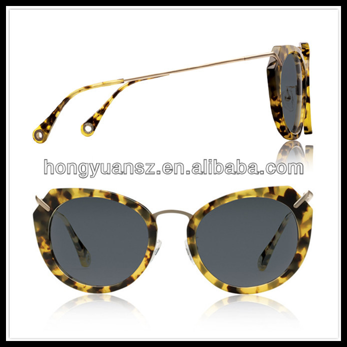 Latest design low price italy design sunglasses metal arm