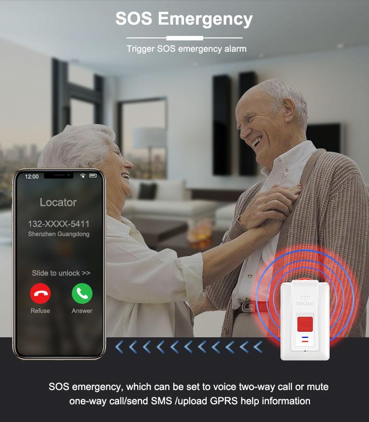 Idosos SOS Botão De Emergência Queda Detection Pingente Queda Detector Alarme de Chamada de Emergência Botão de Pânico para Sênior
