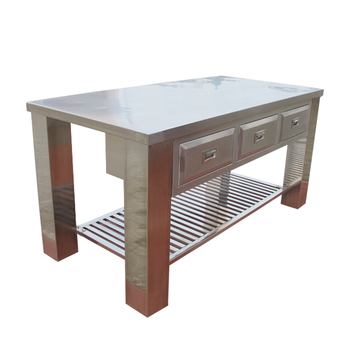 Kitchen Stainless Steel Working Table/metal Work Table/used ...