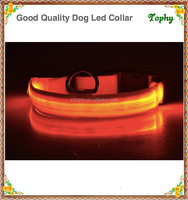 Tophy Nylon Pet LED Dog Collar Night Safety LED Flashing Glow LED Pet Supplies Dog Cat Collar Small Designer Products