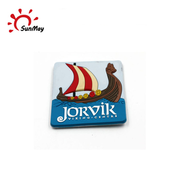 Wholesale custom Sweden JORVIK souvenir 3d pvc fridge magnet for sale