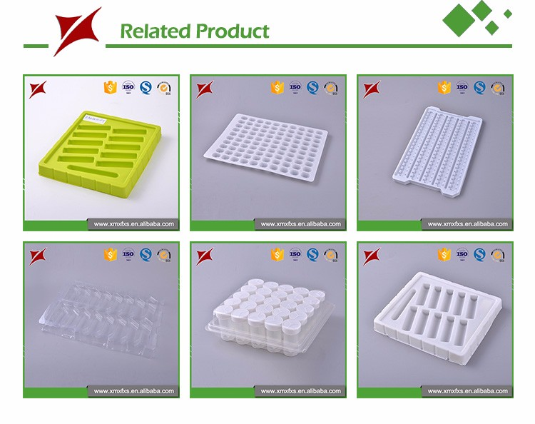 plastic antistatic ps transparent polystyrene ic tray with dividers