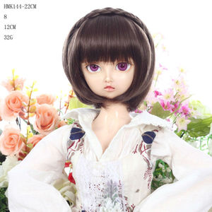 #8 black styles for kids doll wigs