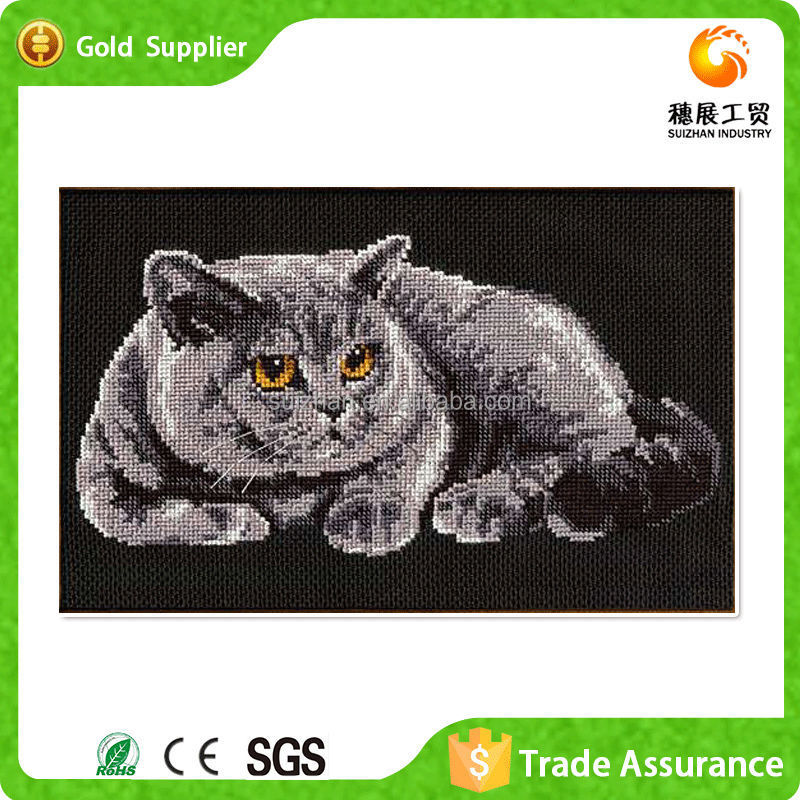 Wholesale price paint about fat cat animal art with room decor 3d diy diamond painting