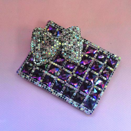 Бесплатная доставка роскошный автомобиль права комплект бриллиант полный карта комплект фиолетовый с бантом