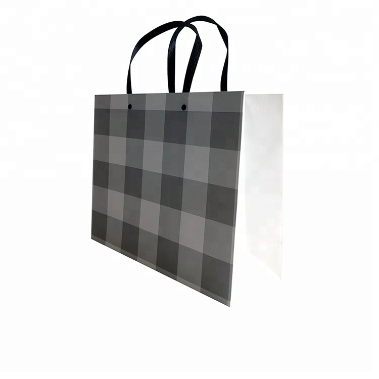 Customizable Printed Handmade <strong>Black</strong> And White Stripe Paper Bag