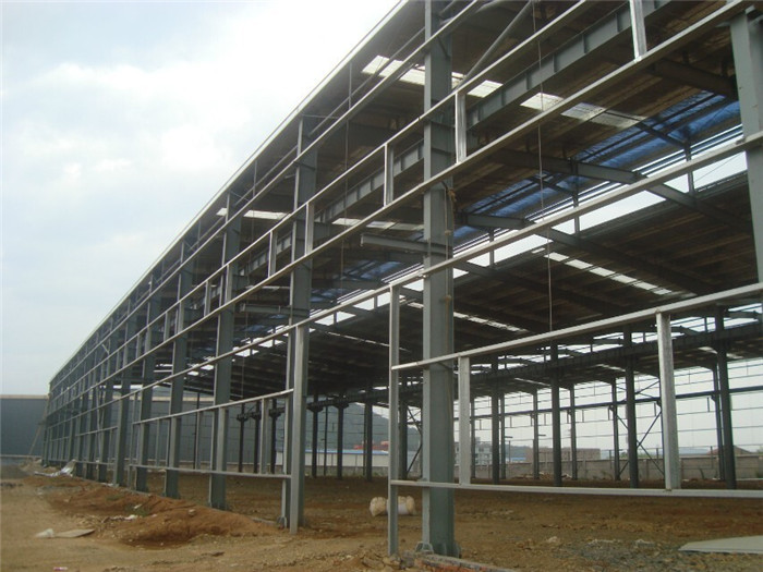 Steel structure prefabricated industrial temporary shed