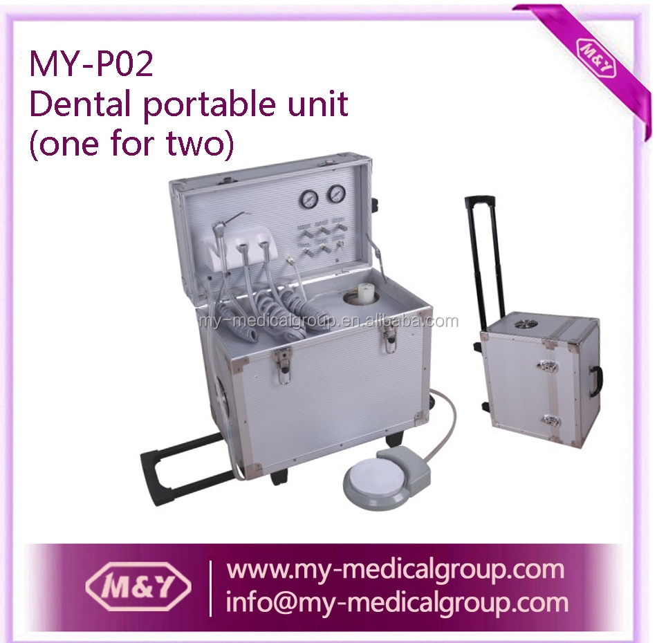 CE approval !!! dental unit, dental treatment unit, dental delivery unit with suitcase (one for two)
