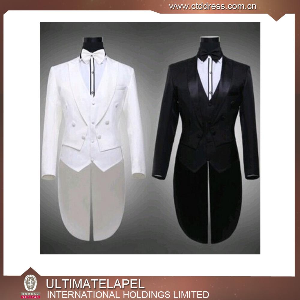 Mens Wedding Suit Long Tail Coat