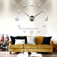2017 24 Hour Analog Wall Clock Unique Gift DIY Wall Clocks Home Decorative Wall Clock