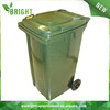 Outdoor square garbage container for sale, medical trash plastic waste container with wheels