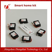 6ch 433.92mhz wireless rf smart home remote control and receiver kit for light/home use