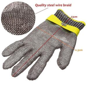 Commercial 304 Stainless Steel Apron Gloves Butcher Glove