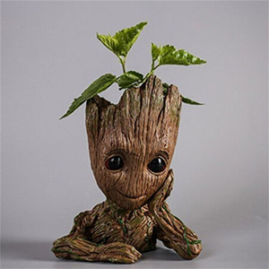 Baby groot flower pot,polyresin groot pen holder figurine