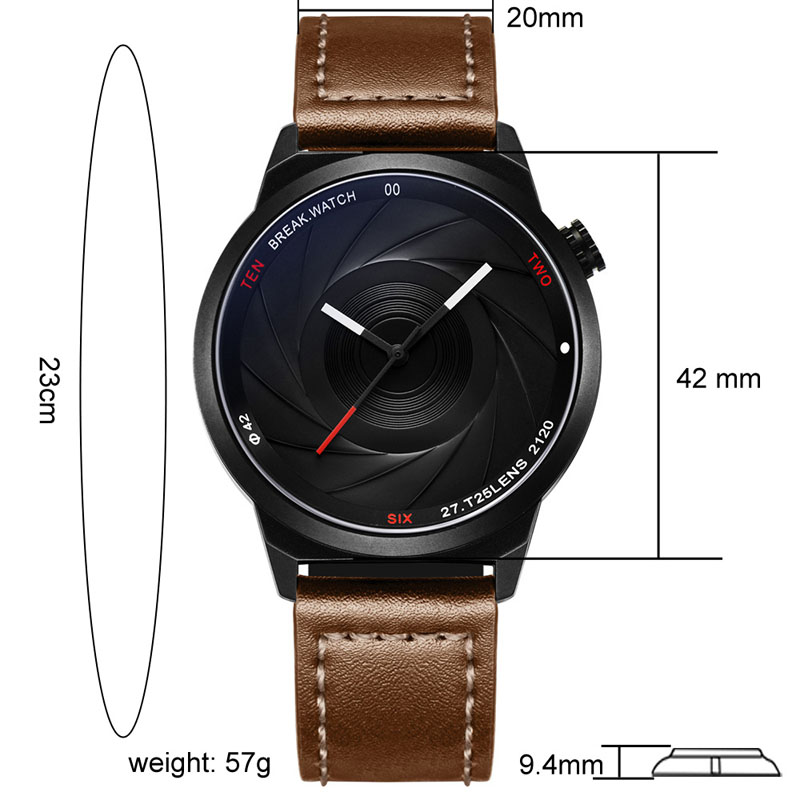 WJ-7657-3 Wholesales Business Quartz Handwatches 패션 가죽 손목 Watches 게 사실입니다 Brand Men Watches BR03-T25