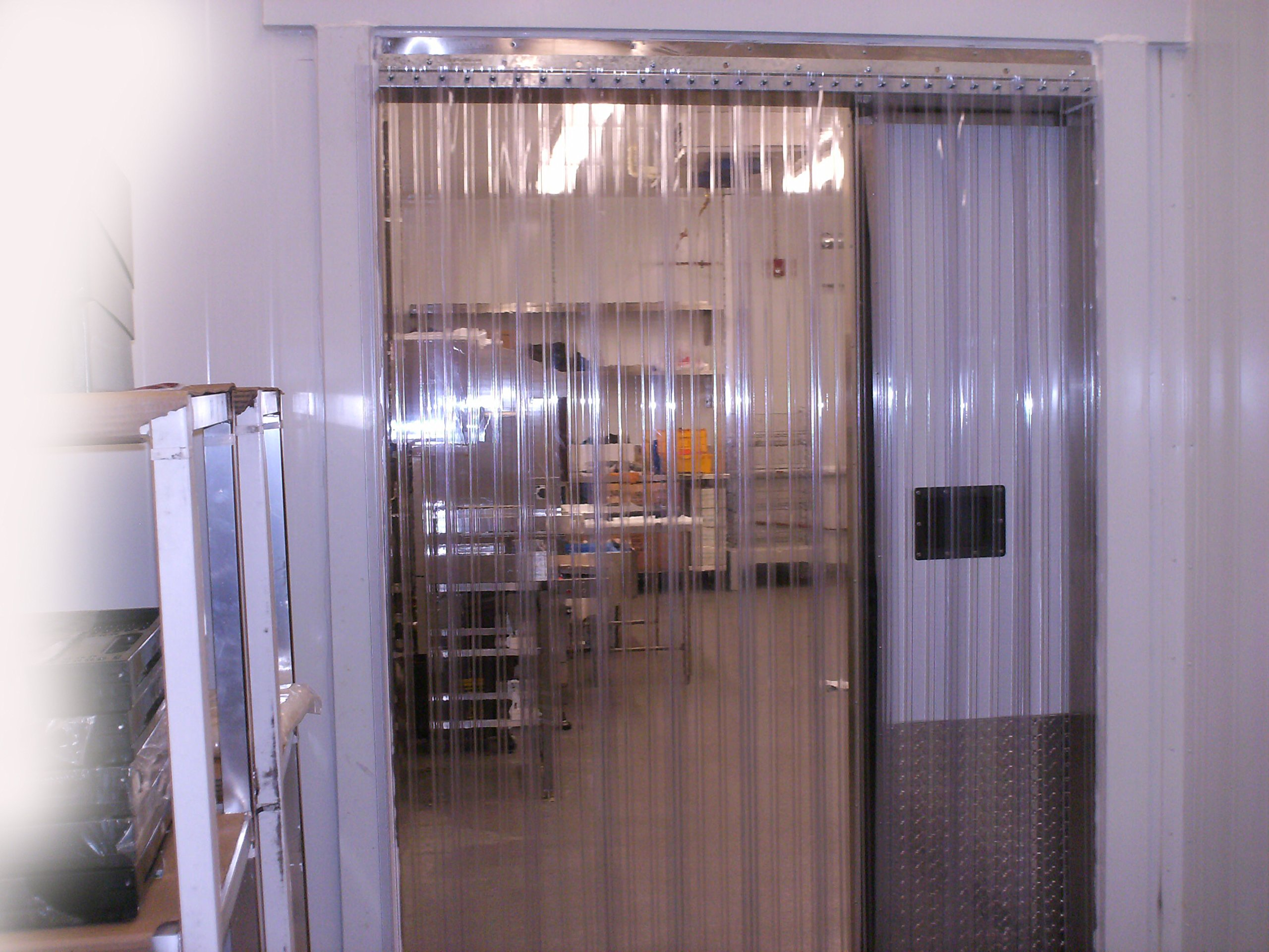 Stainless Steel Hardware 36 in. Width X 84 in. Green Opaque 8 in 7 ft 3 ft Height Strip-Curtains.com: Strip Door Curtain Strips with 50/% Overlap