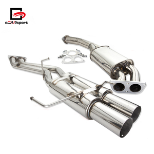 eCARsport High Performance CatBack Exhaust System Muffler Dual For 95-98 240sx S14 For Silvia