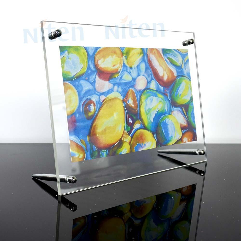 8,5x11 Acryl Schildhalter Acryl Rahmenlose Bilderrahmen Mit Schraube ...