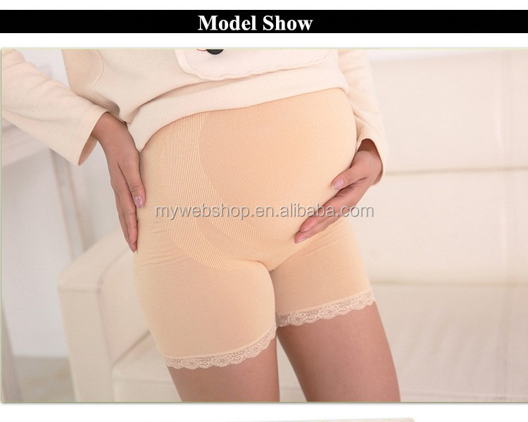 Lace Seamless Pregnant Render Safe Pants Support Abdomen Thin Adjustable Maternity Panty