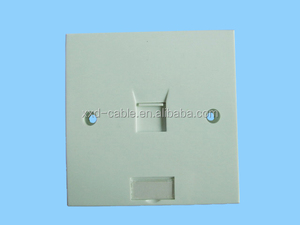 single port network cabling rj45 faceplate
